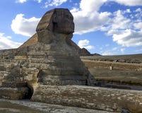 极大的狮身人面象 埃及狮身人面象 世界的第七奇迹 古老巨石 库存照片