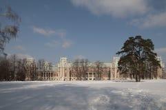极大的莫斯科宫殿tsaritsino 库存照片