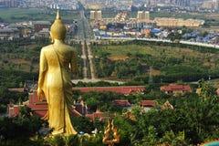 极大的菩萨雕象,景洪,中国 库存照片