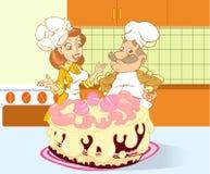 极大的蛋糕 库存图片
