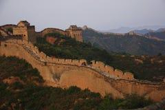 极大的jinshanling的墙壁 库存照片