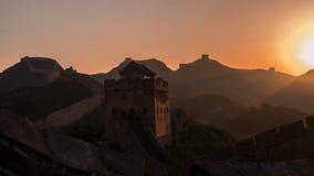 极大的jinshanling的墙壁 免版税库存照片