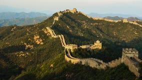 极大的jinshanling的墙壁 免版税库存图片