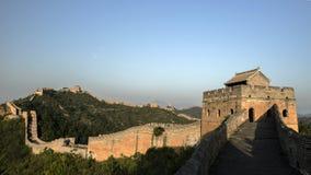 极大的jinshanling的墙壁 库存图片