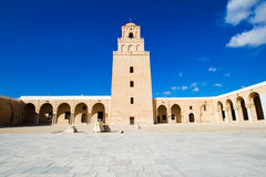 极大的kairouan清真寺uqba 免版税库存图片