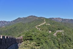 极大的mutianyu墙壁 库存照片