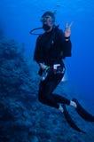 极大障碍的潜水 免版税图库摄影