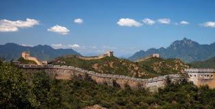 极大 中国-金山岭-中国的墙壁 库存图片