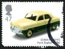 极小的玩具英国邮票 库存图片