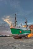 极小的船 免版税图库摄影