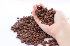 极少数咖啡豆 库存照片