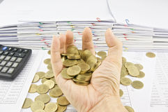 极少数金币  免版税库存图片