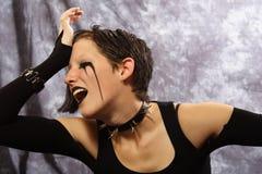 极度忧伤女孩的goth 免版税库存照片