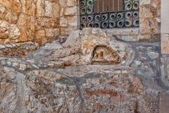 极度痛苦岩石在耶路撒冷,以色列 图库摄影