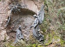 极度痛苦庭院gethsemane 免版税库存图片