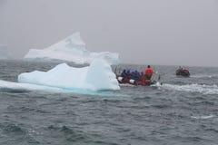 极性小船的着陆 免版税库存图片