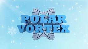 极性漩涡-极端冷天警告的情况通知 股票视频