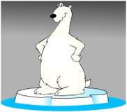 极性熊的冰山 免版税库存照片