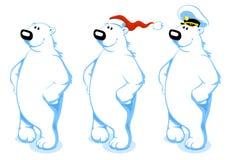 极性熊的动画片 库存例证