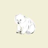 极性的小熊 皇族释放例证