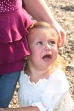 极悲痛的女孩一点 免版税库存图片