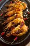 极热的亚洲大虾 库存照片