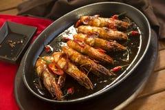 极热的亚洲大虾 免版税库存照片