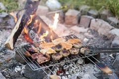 极热的夏天BBQ 库存图片
