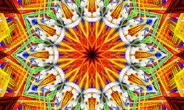 极端五颜六色的坛场艺术 皇族释放例证