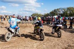 极端体育摩托车,摩托车越野赛竞争 免版税库存图片