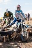 极端体育摩托车,摩托车越野赛竞争 免版税图库摄影