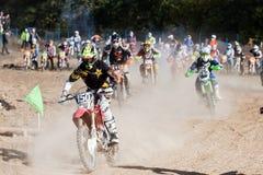 极端体育摩托车,摩托车越野赛竞争 免版税库存照片