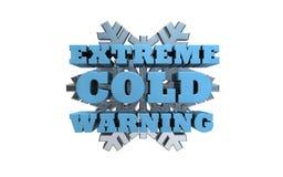 极端冷的警告 图库摄影