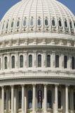 极端接近U S 国会大厦圆顶在华盛顿D C 库存照片