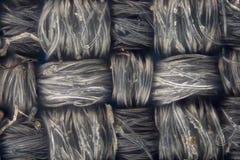 极端放大-肮脏的灰色编织了织品纹理 免版税库存图片