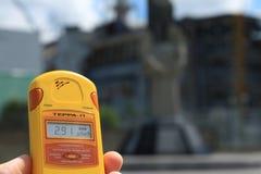 极端旅游业在切尔诺贝利中 免版税库存图片