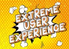 极端用户经验-漫画样式词 库存例证