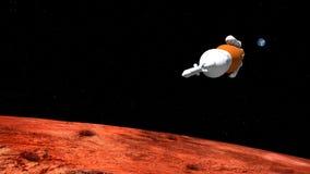 极端空间发射系统SLS火箭队的详细和现实高分辨率3D例证 射击从空间 向量例证