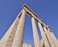 极端透视,古希腊寺庙异常的看法  库存图片