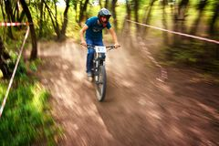 极端登山车竞争 图库摄影