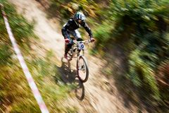 极端登山车竞争 库存图片