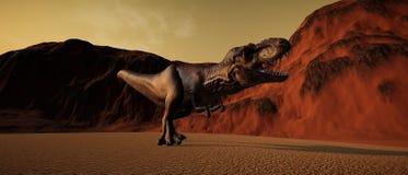 极端T雷克斯恐龙的详细和现实高分辨率3d例证 皇族释放例证