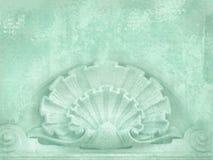 结构上详细资料大梁玻璃购物中心被反射的购物 飞行物、消息、名片、海报等等的空白 在破旧的别致的样式 被雕刻的艺术装饰形象  皇族释放例证
