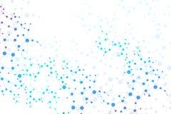 结构分子和通信 脱氧核糖核酸,原子,神经元 您的设计的科学概念 与小点的被连接的线 免版税图库摄影