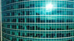 结构商务中心例证主题 与许多办公室的空的现代办公楼 没有人民 股票录像