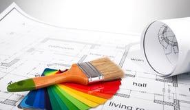 结构图和工具 免版税库存照片
