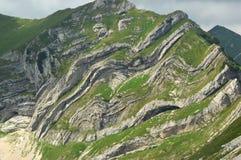 结构地质陈列 库存照片