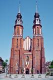 结构城市主要opole波兰住宅rynek正方形 著名教会 免版税库存照片
