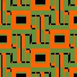 构思设计例证网络向量 抽象网例证 技术样式 数字式几何设计元素 个人计算机网络 通信 免版税库存照片