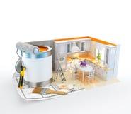 构思设计内部生动描述沙发 免版税库存照片
